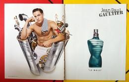 J-P Gaultier - Publicité Double Page - Le Mâle - Publicités Parfum(journaux)