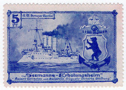 (I.B) Germany (Great War) Cinderella : Seaman's Rest Home Fund 5pf - Germany