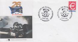 Enveloppe  60éme  Anniversaire   Du   Bataillon  De  Marins  Pompiers  De  La   Ville   De   MARSEILLE   1999 - Sapeurs-Pompiers