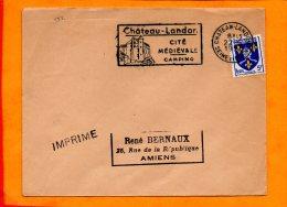 SEINE ET MARNE, Chateau Landon, Flamme SCOTEM N° 522 - Marcophilie (Lettres)