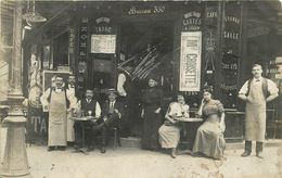 RARE CARTE PHOTO - PARIS - CAFE à LOCALISER - Infime Trace De Griffure Au Centre - Bar, Alberghi, Ristoranti