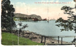 The River Front And Hook Mountain, Nyack, New York Creases On Left - NY - New York