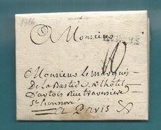 Gard - Bagnols Pour Le Marquis De La Bastide à Paris; LAC Ecrite à St Marcel De L'Aveyron. 1786 - 1701-1800: Precursors XVIII