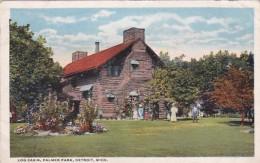 Michigan Detroit Log Cabin Palmer Park 1917 Curteich