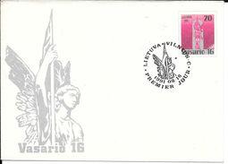 Lietuva Litauen Lituanie Litouwen Lithuania 1991 Stamped Envelopes - Vasario 16 - Litouwen