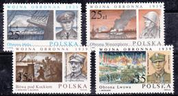 Pologne 1989 N° Y&T :   3020 à 3023 (gomme Tâchée) ** - 1944-.... République