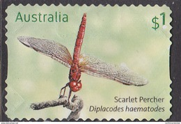 2017. AUSTRALIAN DECIMAL. Dragonflies. $1. Scarlet Percher. (Diplacodes Haema. FU. - 2010-... Elizabeth II