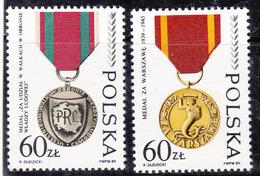 Pologne 1989 N° Y&T :   3031 Et 3032  ** - 1944-.... République