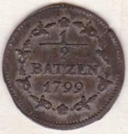 République Helvétique .1/2 Batzen 1799. Monnaie Napoléonide . KM# A6 - Suisse
