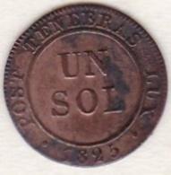 Canton De Genève.  1 Sol 1825 . KM#  120 - Suisse