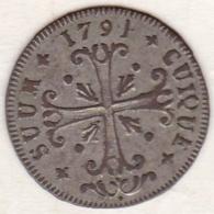 Principauté De Neuchâtel / Neuenburg . 1/2 Batzen 1791 . KM# 47 - Schweiz