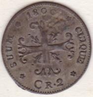 Principauté De Neuchâtel  / Neuenburg . 2 Kreuzer (1/2 Batzen) 1800  . - Schweiz