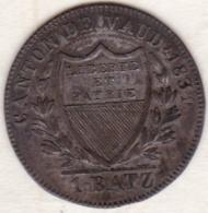 Canton De Vaud  . 1 BATZEN 1831/0 (1 Sur 0) Rare. KM# 20 - Schweiz
