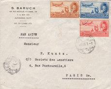 EGYPTE Lettre De BARUCH De ALEXANDRIE Vers PARIS (poste Aerienne) - Egitto