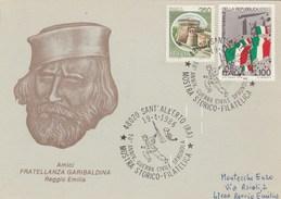 1986  ITALY SPANISH CIVIL WAR 50th Anniv EVENT COVER Sant Alberto Card Stamps Spain - Militaria
