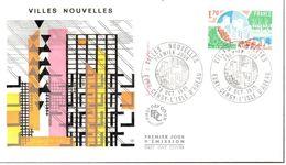FDC Villes Nouvelles 18/10/75 Evry Cergy L'isle D'Abeau - FDC
