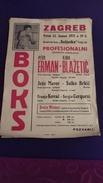 BOX   BOKS   PLAKAT     ZAGREB 1971   PRVENSTVO  JUGOSLAVIJE   50  X 35 CM - Kleding, Souvenirs & Andere