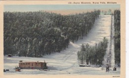 Michigan Boyne Falls Ski Chair Lift & Hill Boyne Mountain 1958 C