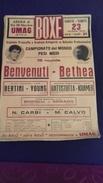 BOX   BOKS   PLAKAT     UMAG  SVJETSKO     PRVENSTVO    1970   50  X 35 CM - Kleding, Souvenirs & Andere