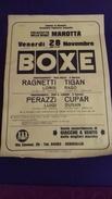 BOX   BOKS   PLAKAT    ITALIA  -JUGOSLAVIA       50  X 35 CM - Kleding, Souvenirs & Andere