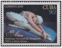 2016.60 CUBA 2016 MNH DESAGRAVIO DE LA FEU A ALICIA ALOSO. BALLET DANZA DANCE. - Cuba