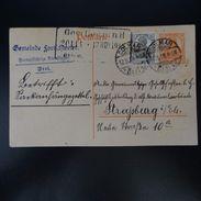 ALSACE LORRAINE LETTER COVER CAD GERMAN COLMAR 1918 - Sonstige - Europa