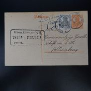 ALSACE LORRAINE LETTER COVER CAD GERMAN BLOTZHEIM 1918 - Sonstige - Europa