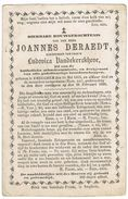 EMELGEM ( Izegem) , Doodsprentje Van Joannes DERAEDT , Overleden Te Emelgem + 1880 - Devotion Images