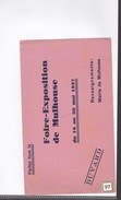 1 Buvard    :     Foire Exposition De Mulhouse    1937 - Transport