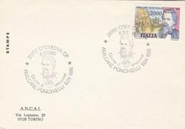 1986 Cremona ITALY FDC Card PONCHIELLI Opera Music Stamps Cover Theatre - Music