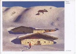 Alfons Walde  - 'Gemälde - Almen Im März  - **19800-76** - Peintures & Tableaux