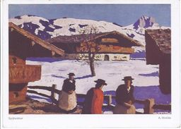 Alfons Walde  - 'Gemälde - Spätwinter   - **19800-74** - Peintures & Tableaux