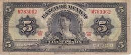 BILLETE DE MEXICO DE 5 PESOS DEL AÑO 1970   (BANKNOTE) - México