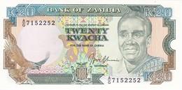 BILLETE DE ZAMBIA DE 20 KWACHA DEL AÑO 1989  (BANKNOTE)  SIN CIRCULAR - UNCIRCULATED - Zambia