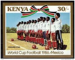 KENYA    BF 27 * *  NON DENTELE  ( Cote 9e )  Cup 1986    Football Soccer Fussball - Coupe Du Monde