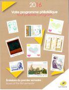 Programme Philatélique 1er Semestre 2016 - Publicités