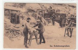 CPA Allemande- Soldats Allemand Meule Aiguisant Les Pioches Couteaux 1915 CHARLEROY-(Charleroi)-(guerre14-18)2scans - Oorlog 1914-18