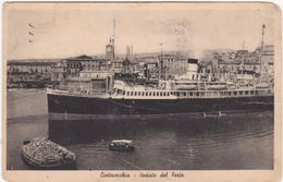 068 CIVITAVECCHIA VEDUTA DEL PORTO NAVE BOAT SHIP 1939 - Civitavecchia