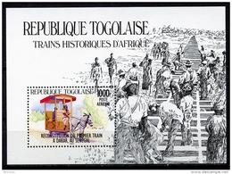 Togo, 1984, Horse Train, Locomotive, Railroad, MNH, Michel Block 256 - Togo (1960-...)
