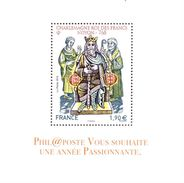 Carte De Voeux Phil@poste 2016 Charlemagne Roi Des Francs - Documents De La Poste