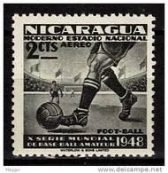 NICARAGUA    PA 268   * *    Football Soccer  Fussball 1948 - Ungebraucht