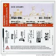 Ticket D'entrée / Entrance Ticket / Entreebewijs 2005 - Gaudi - Fundacio Caixa Catalunya - Barcelona Barcelone - Tickets D'entrée