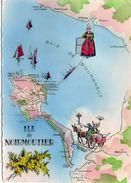 Ile De Noirmoutier Carte Géographique Map Contour De L'Ile Barbâtre La Guérinière L'Herbaudière - Ile De Noirmoutier