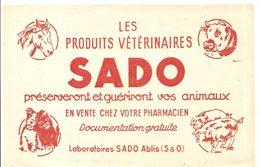 Buvard SADO Les Produits Vétérinaires SADO Préserveront Et Guériront Vos Animaux - Animals