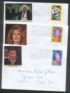 3 Env. Personnalisées Artistes De Spectacle - LEO FERRE, DALIDA, SERGE GAINSBOURG - Flm Riec Sur Bélon 22/11/2001 - France