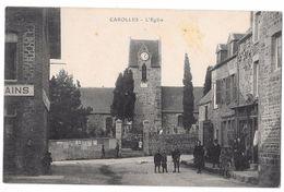 CAROLLES - L'Eglise (vue Animée - Commerce) - France