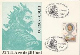 1979  Mogliano Veneto ATILLA OPERA EVENT COVER Card Italy Stamps Music Theatre - Music