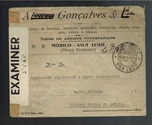1940 Luanda Angola Censored Cover To Fort Wayne USA Via Lisbon - Angola