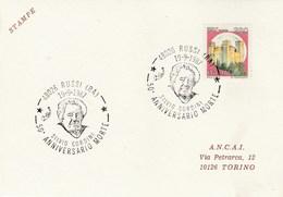 1987 Russi SILVIO GORDINI Death ANNIV EVENT COVER Card Italy Stamps Art - Art