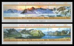 North Korea 2005 Mih. 4859/64 (Bl.611/12) Paintings. 216 Peaks Arownd Lake Chon On Mt. Paektu MNH ** - Korea, North